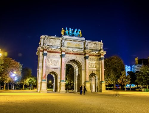 Arc de Triomphe du Carrousel - night