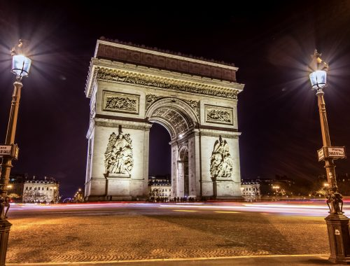 Arc de triomphe - night - Hyperlapse-2