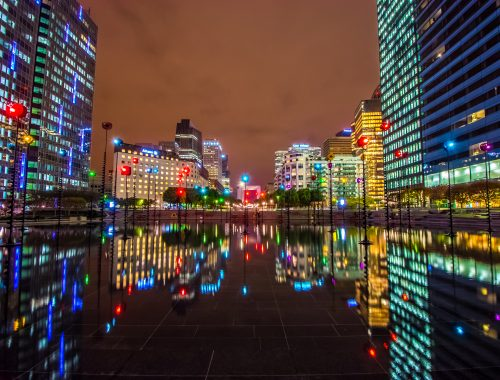 La Défense - Night (ACCÉLÉRÉ – HYPERLAPSE - TIMELAPSE) Paris FRANCE
